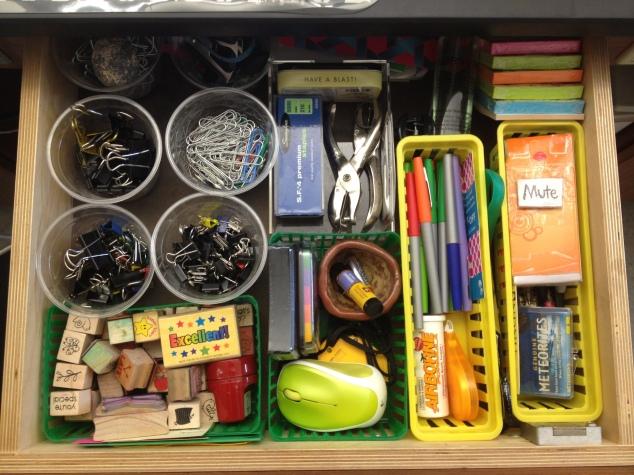 Teacher Desk Drawer Organization