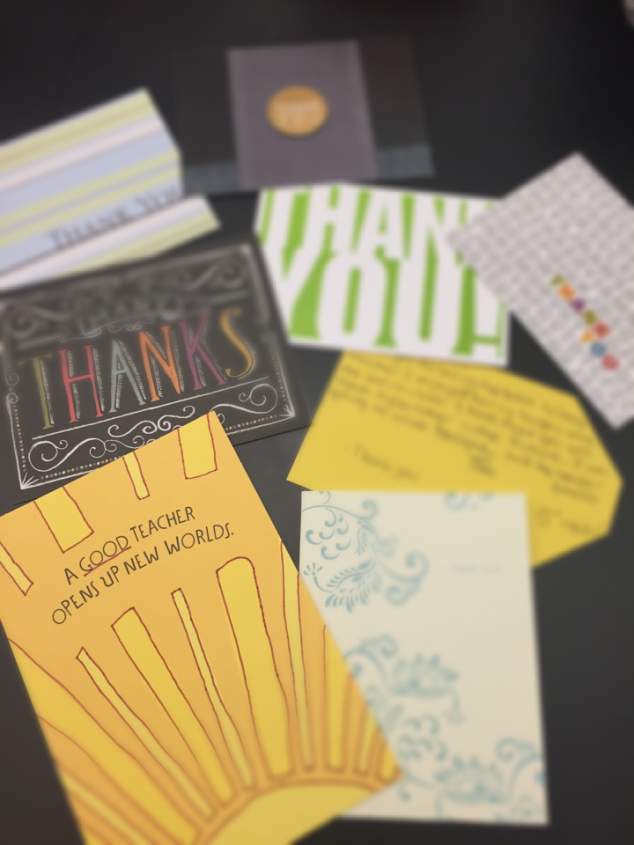 Randomly grab thank you cards and letters that you have saved to relive those nice moments of gratitude from the past.