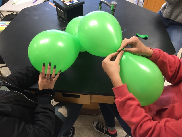 These students are starting to assemble their orbital.