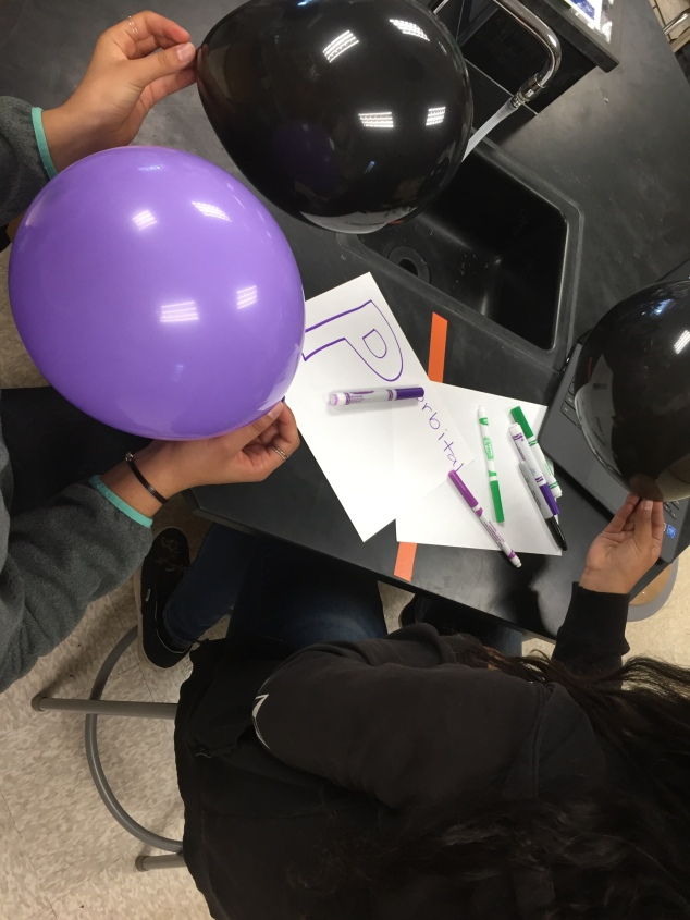 These students are working on their orbital signs as they also build their orbitals.
